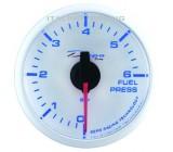 Merač tlaku paliva 0-6bar - elektrický (52 mm) Super White&Blue