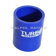 Straight Silicone hose for turbo (blue) 102mm