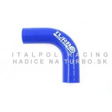 Silikónové koleno TurboWorks 90° 40mm, Modré, Dĺžka: 200mm