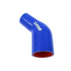 Silikónové redukčné koleno TurboWorks 45°, D/d: 45-51mm, Modré, PRO