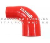 Silikónové redukčné koleno TurboWorks 90°, D/d: 51-63mm, Červené