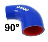 Silikónové redukčné koleno TurboWorks 90°, D/d: 63-70mm, Modré, PRO