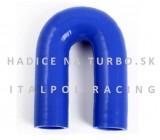 Silikónové koleno 180° 45mm, Modré, Dĺžka: 150mm