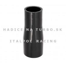 Silikónová hadica - Redukcia rovná, 57-70mm, Čierna, Dĺžka: 12cm