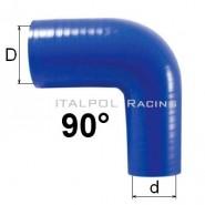 Silikónové redukčné koleno TurboWorks 90°, D/d: 38-51mm, Modré