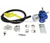 Regulátor tlaku paliva, nastaviteľný, externý, Modrá farba