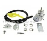 Regulátor tlaku paliva, nastaviteľný, externý, Strieborná farba
