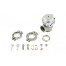 Wastegate ventil, Externý, nastaviteľný, 38mm, 1bar, V-band, strieborný